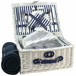 INNO STAGE Willow Picnic Basket for 2 (White Washed)