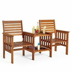 VonHaus Garden Love Seat Bench