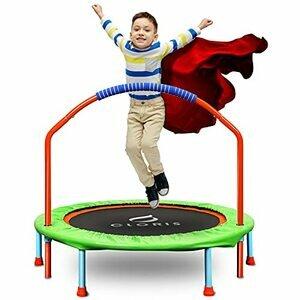 CLORIS Mini Trampoline for Kids Trampoline with Adjustable Foam Handle