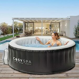 CosySpa Inflatable Hot Tub Spa – Outdoor Bubble Jacuzzi for 2-6 People