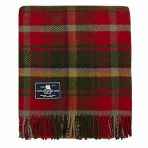 Tweedmill Textiles Dark Maple Tartan Premium Wool Travel Rug