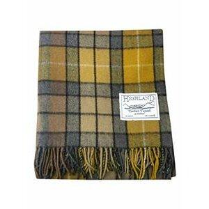 Premium Wool Tartan Picnic Rug (Buchanan Natural)