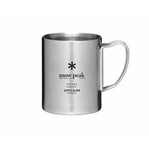 SNOW PEAK Stainless Steel Double Wall Silver Mug, 300ml