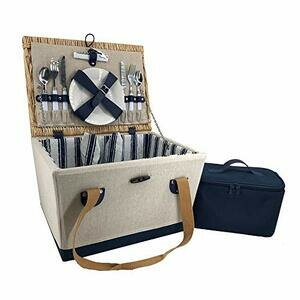Red Hamper 2 Person Nautical Fitted Picnic Basket (Blue)