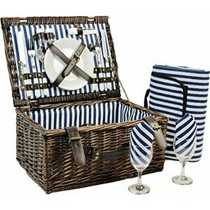 INNO STAGE Wicker Picnic Basket for 2