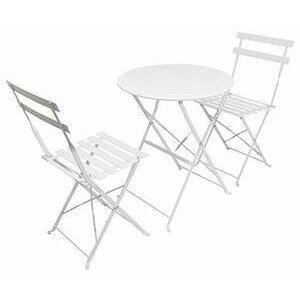Woodside Patio Folding Table & Chair Bistro Set