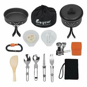16pcs Camping Cookware Stove Set