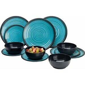 Granite Aqua Premium Plus 12pc Dinner Set Melamine