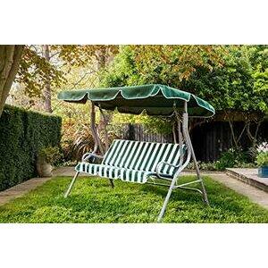 WestWood BIRCHTREE Garden3 Seater Swing Hammock Chair - Green