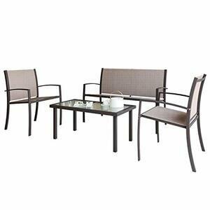 Indoor/Outdoor 4 Piece set Patio Furniture Set
