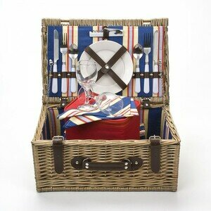 Premium Stripe Carnival Basket for 2 people