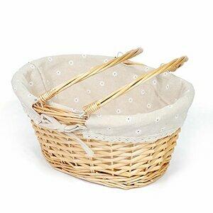 MEIEM Oval Willow Picnic Basket
