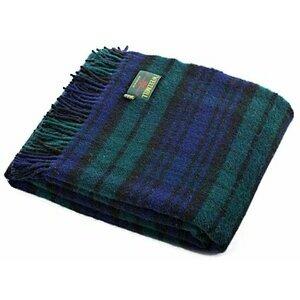 Black Watch tartan British made wool picnic blanket