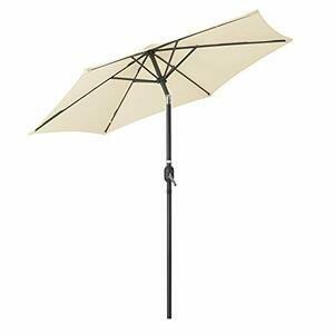 CHRISTOW Garden Parasol Umbrella 2.4m - Aluminium Pole, Grey, Cream, Black, Navy, Green