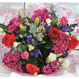Homeland Florists Fresh Flower Bouquet with a Naomi Velvet Rose at its Heart