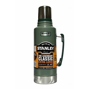 THE Legendery Classic Extra Large Stainless Steel Stanley Flask (Green)