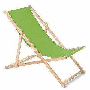 GreenBlue Sunbed Classic Beech Deck Chair Perfect For Summer (Light-Green)