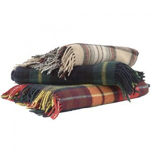 Antique Buchanan Tartan Wool Picnic Rug