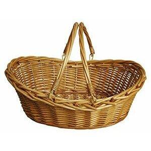 Oypeip Wicker Basket Gift Basket (Oval)