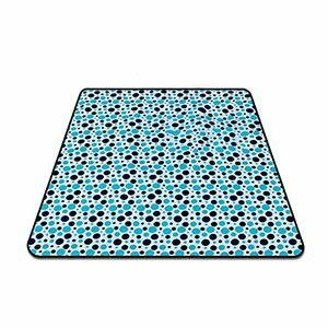 RWX Waterproof XL Picnic/Beach Blanket (Colour : Blue dots)