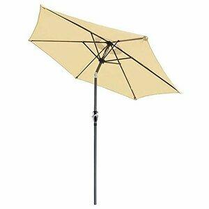 ReaseJoy 2.5m 8ft 6Rib Garden Parasol Umbrella  (Beige)