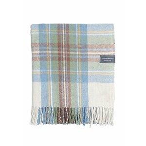 The Tartan Blanket Co. Recycled Wool Blanket Stewart Muted Blue Tartan