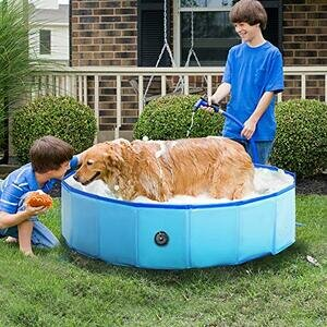 "RELIANCER Foldable Dog Swimming Pool 32"""