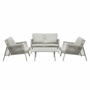 Dellonda Fusion 4 Piece Outdoor Sofa Set