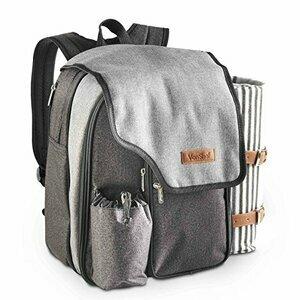 VonShef Ash 2 Person Picnic Backpack Bag With Blanket