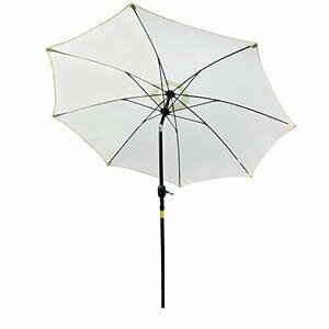 Outsunny 2.65M Patio Sun Umbrella Parasol (Off-White)