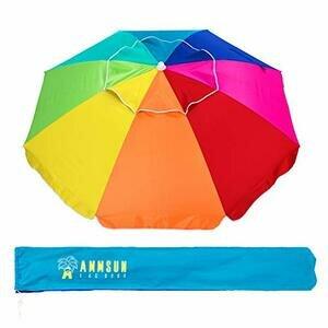 AMMSUN Beach Umbrella (Rainbow)