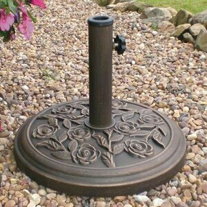 Cast Iron Floral Parasol Base