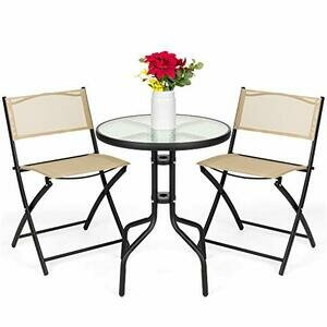 Best Choice Products 3-Piece Polyester Patio Furniture Set