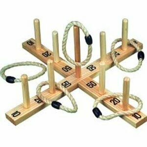 Wood & Rope Quoit Game