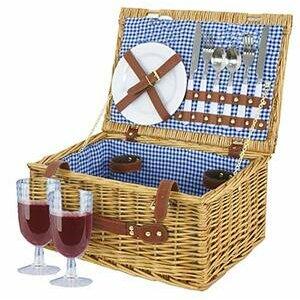 BARGAINSGALORE 2 Person picnic hamper basket