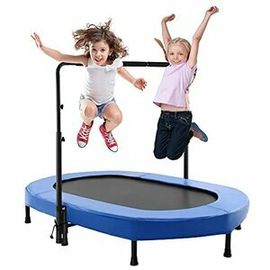 Aceshin Kids Trampoline/Mini Rebounder with Adjustable Handle