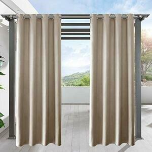 LIFONDER Privacy Blackout Porch Curtains