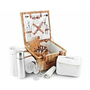 Luxury Fitted Picnic Hamper Basket for 2