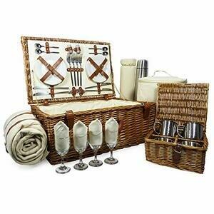 Fine Food Store Sandringham 4Person Luxury Wicker Picnic Basket