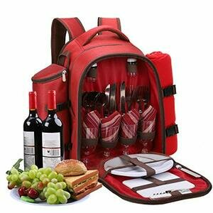 Apollo walker 4 Person Picnic Backpack (Red)