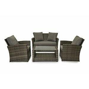 EVRE Rattan Roma Outdoor Furniture/Sofa Set (Grey)