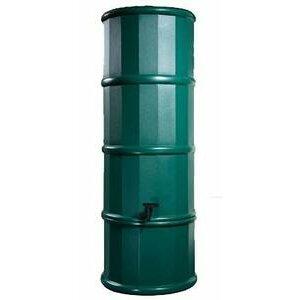 Polytank Green Space Saving water butt 110L Litres