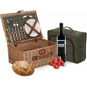 """Wrenbury 16"""" Fitted Deluxe Picnic Hamper with Chiller Compartment"""