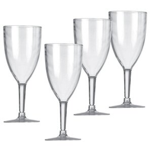 4x Vango Acrylic Wine Glasses