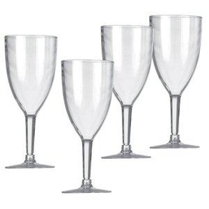 4x Vango Acrylic Wine Glasses