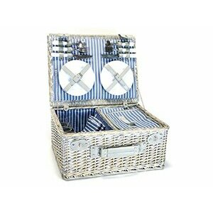 Yellowstone Four Person Wicker Picnic Basket