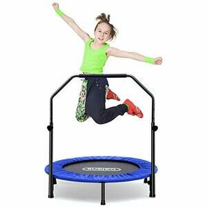 beiens 40 Inch Foldable Mini Rebounder with Adjustable Foam Handle
