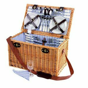 Sandringham Wicker Picnic Basket for Six People