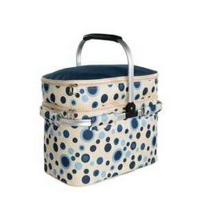 Blue Dot Fabric Picnic Basket
