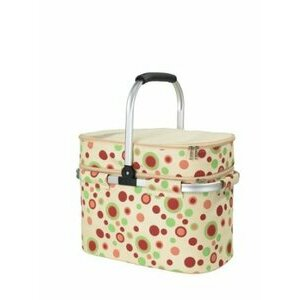 Red Dot Fabric Picnic Hamper